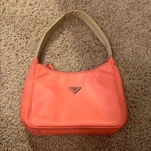 2005 Pink nylon Prada vela mini shoulder bag